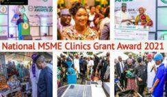 National MSME Clinics Grant Award 2021 Application Portal www.msmeclinics.gov.ng