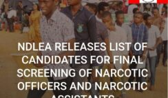 NDLEA Releases 2021 List of Successful Candidates for Final Screening of Narcotic Officers and Narcotic Assistants