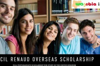 CECIL Renaud Overseas Scholarship 2021/2022