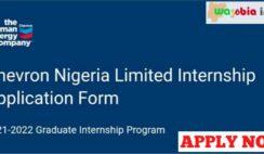 Chevron Graduate Internship Program 2021/2022 - Apply Now