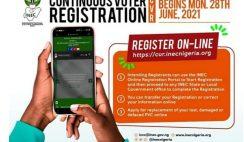 INEC Voters Card Online Registration Portal