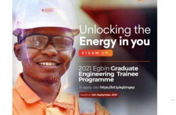 Egbin Graduate Engineering Trainee Programme 2021