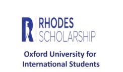 Rhodes Scholarships 2021