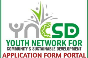 YNCSD Application Form Portal - How to Apply for Youth Network for Community & Sustainable Development